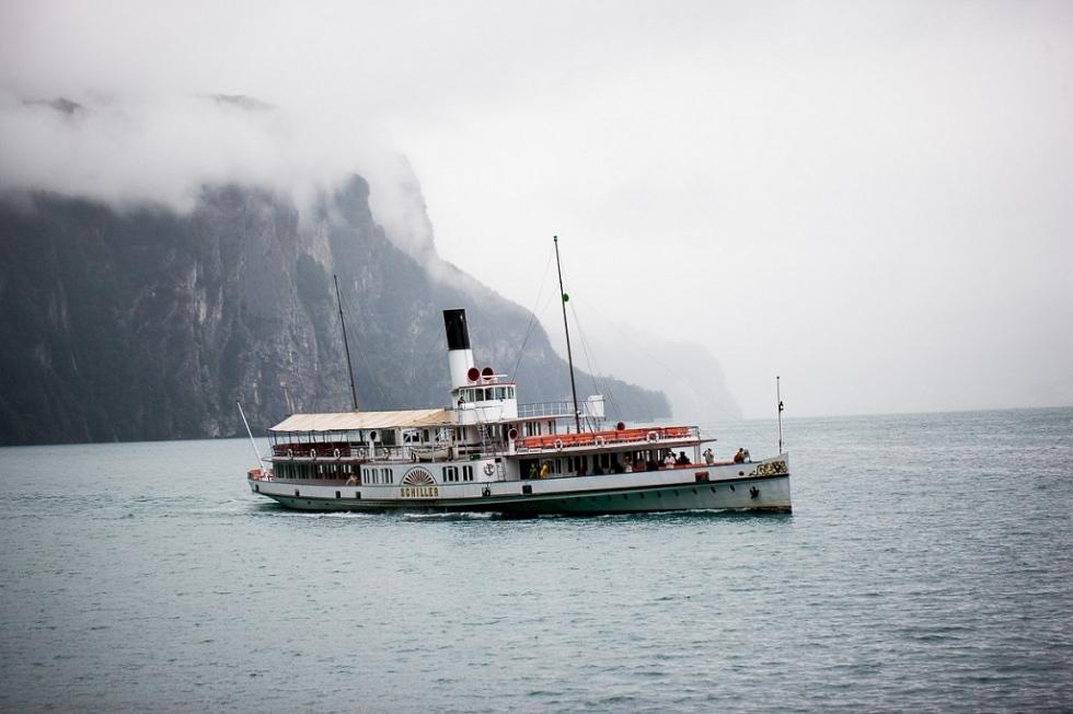 Schifffahrt auf dem Urnersee, Schifffahrt auf dem Vierwaldstättersee, Boattrip on Lake Lucerne