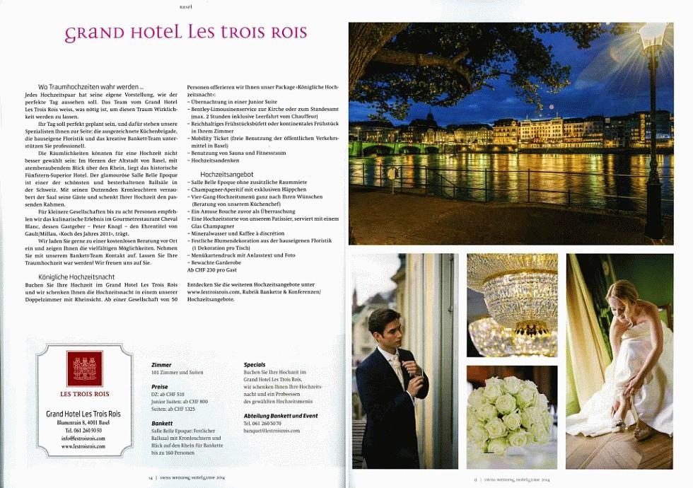 Swiss Wedding - Les Trois Rois - projectphoto.ch