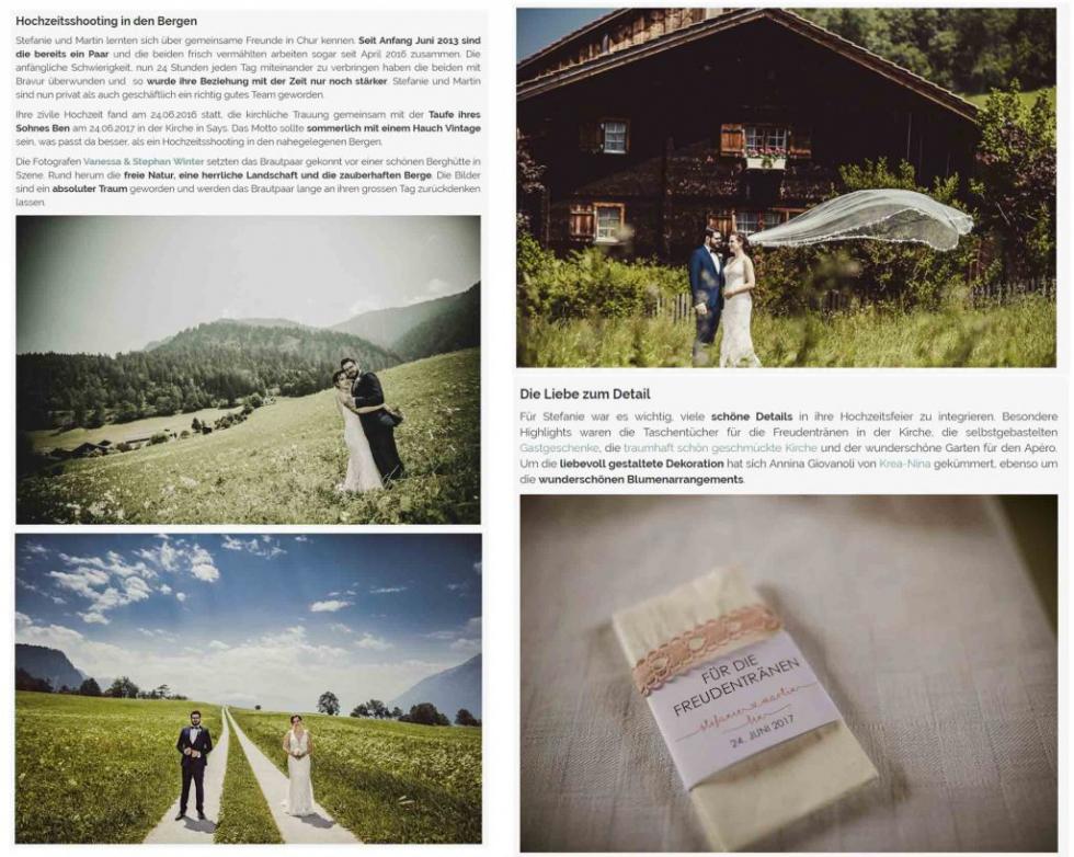 Zankyou features projectphoto.ch - Berghochzeit in Graubünden