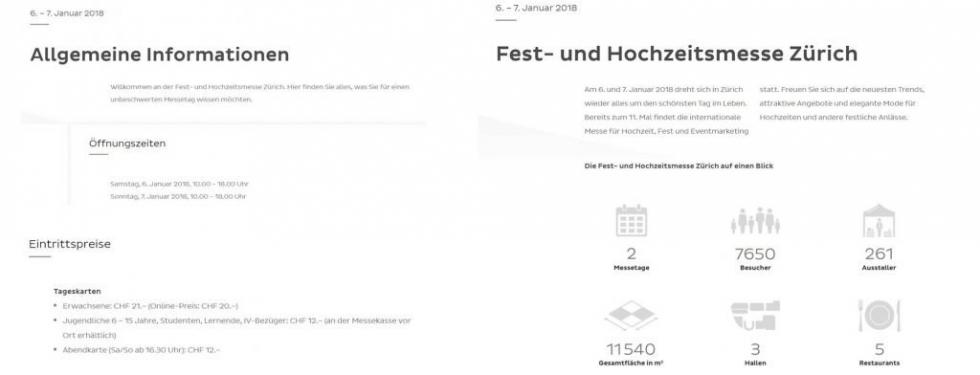 projectphoto.ch an Fest- und Hochzeitsmesse Zürich 2018