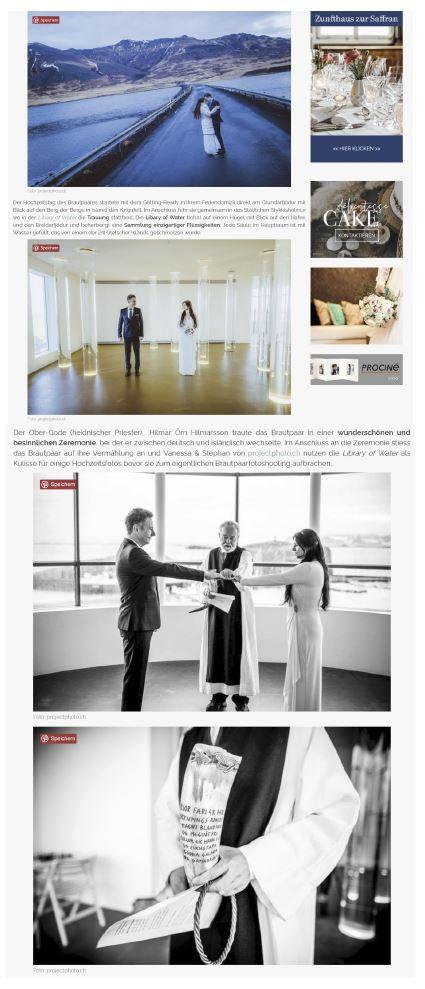 Zankyou weddings veröffentlicht Winter Elopement Wedding in Island - projectphoto.ch