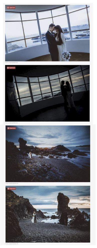 Zankyou weddings veröffentlicht Winter Elopement Wedding in Island - projectphoto.ch