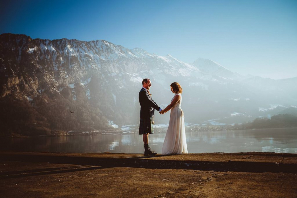 Intimate, scottish civile wedding in Interlaken - projectphoto.ch